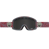 DRAGON D1 2017 GOGGLE POWHEADS RED/DK SMOKE+YELLBLU ION S17
