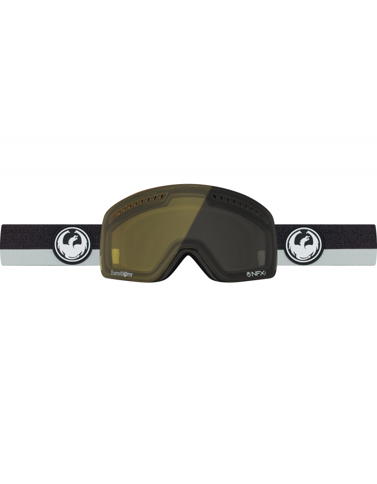f92c305a375b DRAGON NFXS 2017 GOGGLE FLUX GREY INJECTED TRANSITIONS YELLOW S17 - Cherri  Pow Boardstore